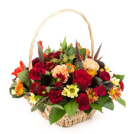 Autumnal Basket Arrangement